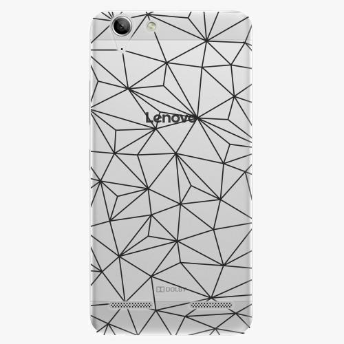 Plastový kryt iSaprio - Abstract Triangles 03 - black - Lenovo Vibe K5