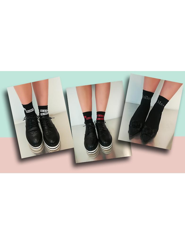 Dámské ponožky Jolie Folie Vogue Social - Černá/univerzální