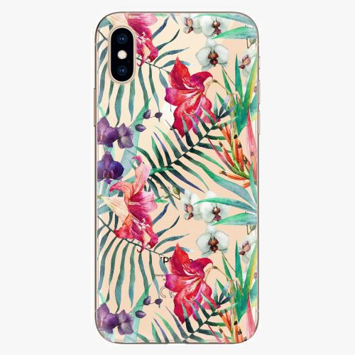 Silikonové pouzdro iSaprio - Flower Pattern 03 - iPhone XS