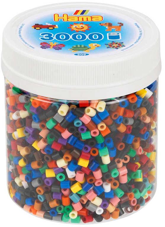 HAMA Korálky barevné zažehlovací XL set 3.000ks v plastové doze