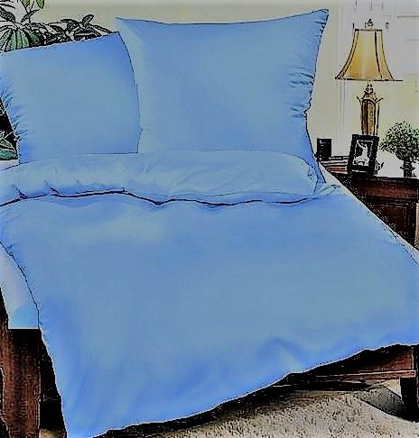 Prodloužené povlečení bavlna UNI 140x220, 70x90cm Modrá, Výběr zapínání: