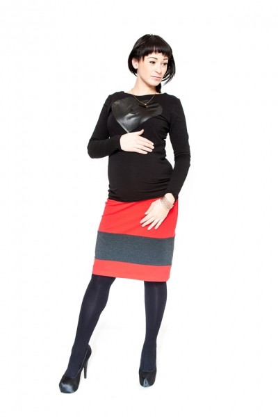tehotenska-sukne-be-maamaa-lora-cervena-grafit-l-40