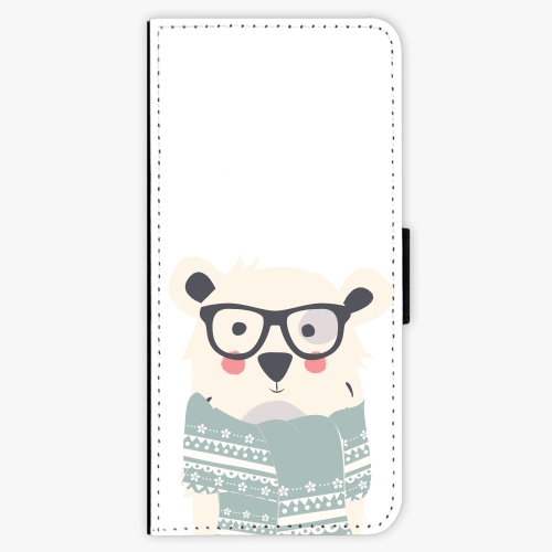 Flipové pouzdro iSaprio - Bear with Scarf - Samsung Galaxy S8 Plus
