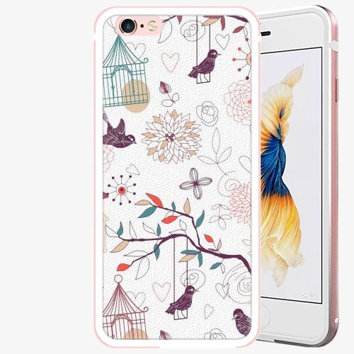 Plastový kryt iSaprio - Birds - iPhone 6 Plus/6S Plus - Rose Gold