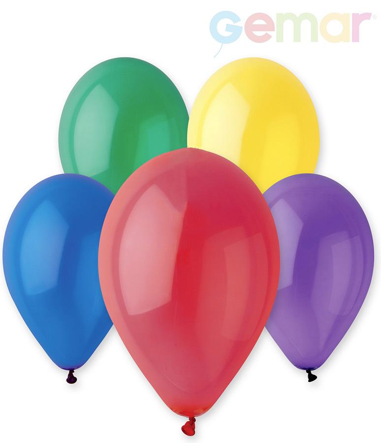 GEMAR Balónek nafukovací 26cm Krystalický různé barvy 1ks