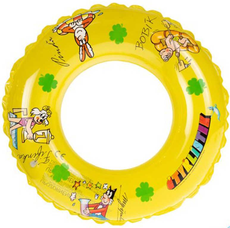 Kruh Čtyrlístek nafukovací 40 cm transparentní