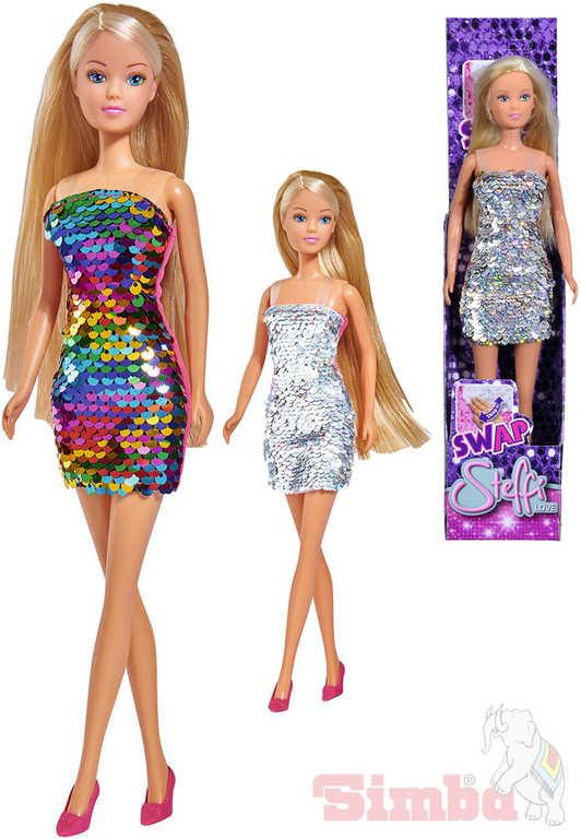 SIMBA Panenka Steffi Swap 29cm třpytkové šaty mení barvu v krabičce