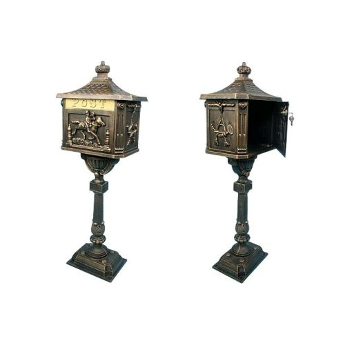 ozdobna-postovni-schranka-bronzova