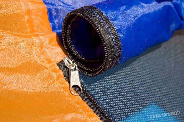 Samorozkládací stan s automatikou - oranžová/modrá