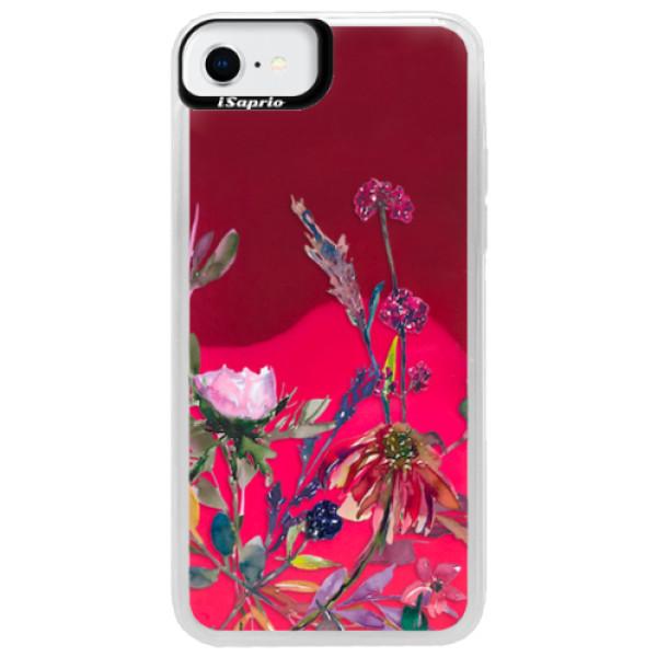 Neonové pouzdro Pink iSaprio - Herbs 02 - iPhone SE 2020