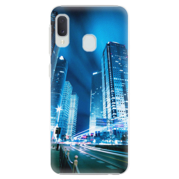 Plastové pouzdro iSaprio - Night City Blue - Samsung Galaxy A20e