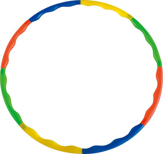 ACRA Obruč gymnastická hula hop 88cm dětský fitness kruh 8-dílný