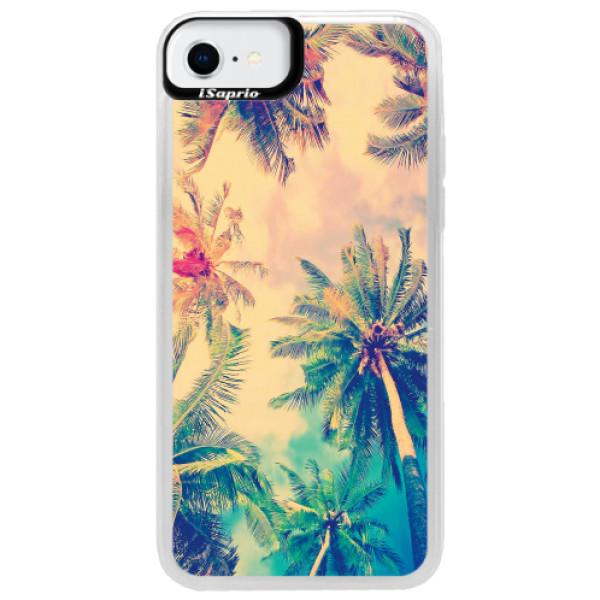 Neonové pouzdro Blue iSaprio - Palm Beach - iPhone SE 2020