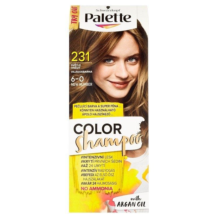 Schwarzkopf Color Shampoo barva na vlasy Světle hnědý 231 (6-0)