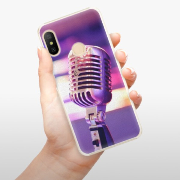 Plastové pouzdro iSaprio - Vintage Microphone - Xiaomi Mi A2 Lite