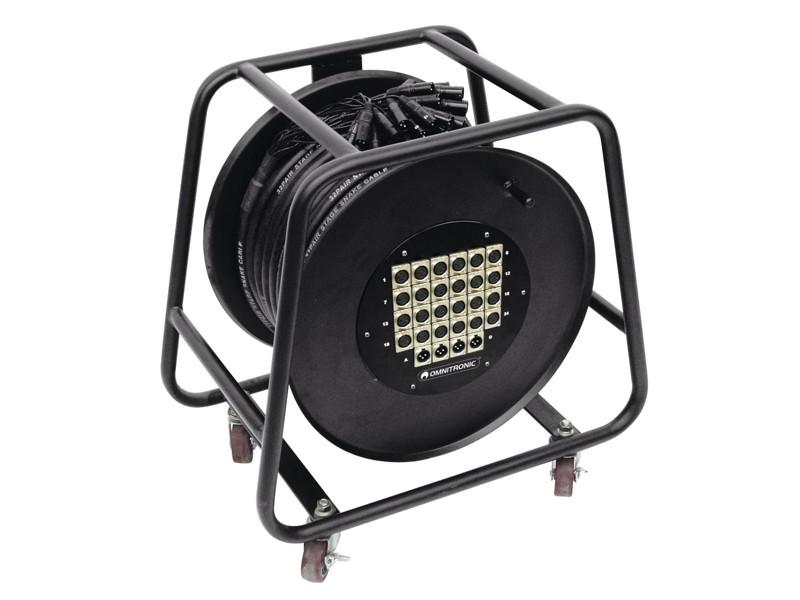 Multicore kabel 24 IN/4 OUT XLR, 30 m na kabelovém bubnu