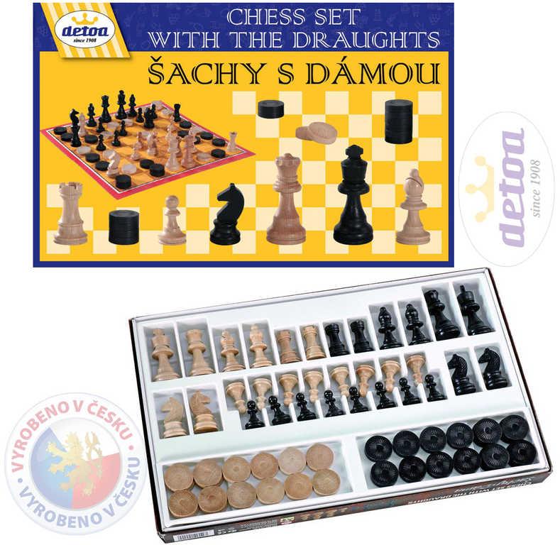 DETOA DŘEVO Šachy s dámou *SPOLEČENSKÉ HRY*