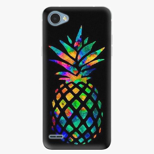 Plastový kryt iSaprio - Rainbow Pineapple - LG Q6