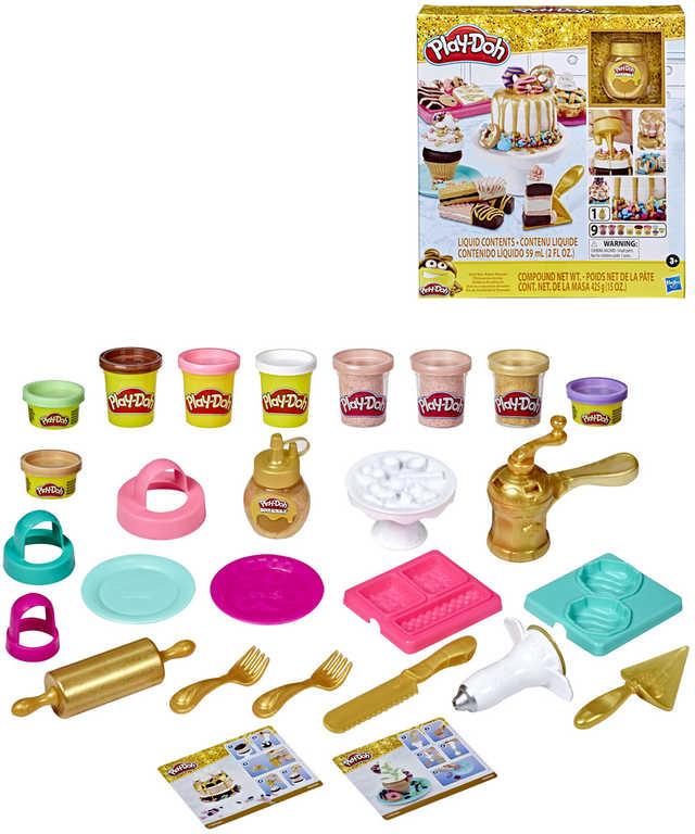 HASBRO PLAY-DOH Zlaté pekařství kreativní set modelína s tekutou polevou a nástroji