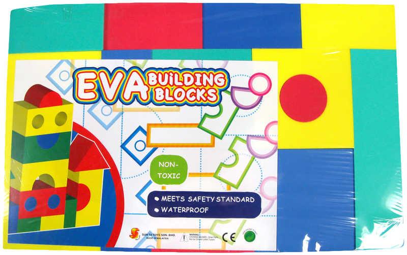 Puzzle Kostky pěnové barevné soft set 15 ks lehké