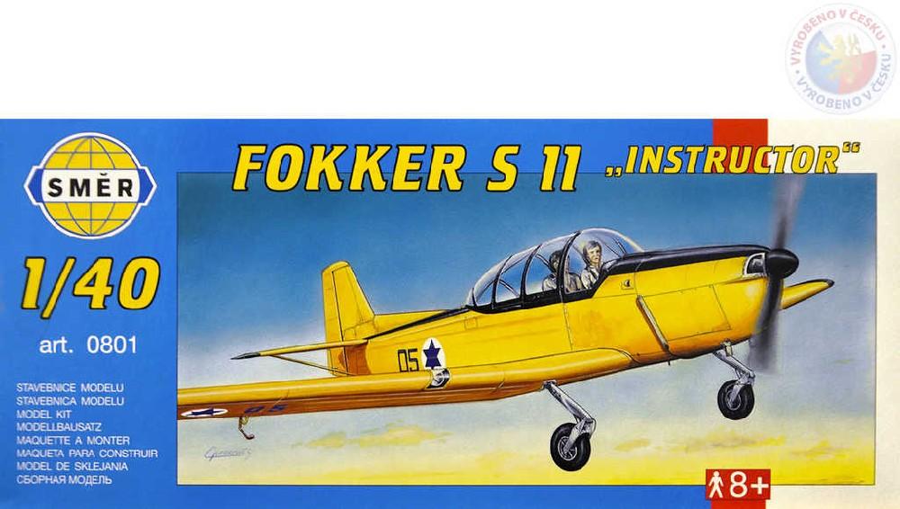 SMĚR Model letadlo Fokker S11 Inst 1:40 (stavebnice letadla)