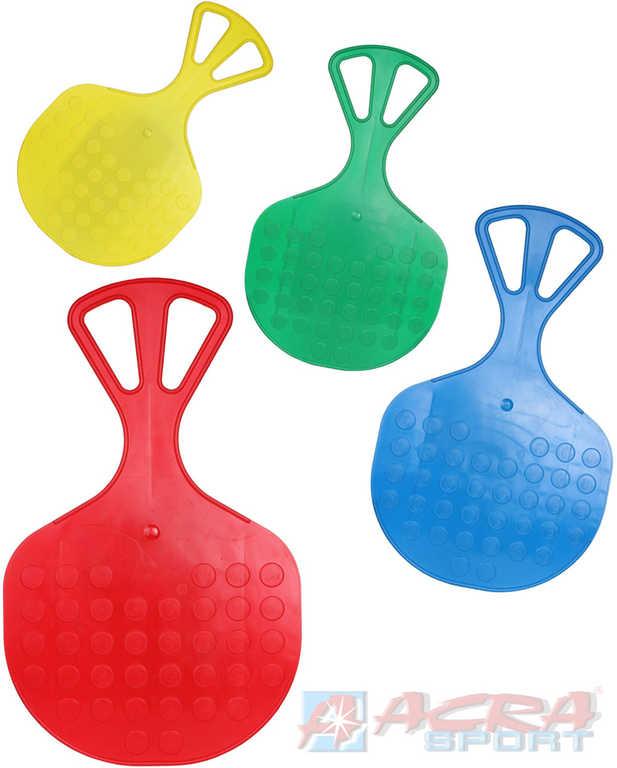 ACRA Sáňkovací lopata klouzák Mrazík dětský plastový ježdík 4 barvy