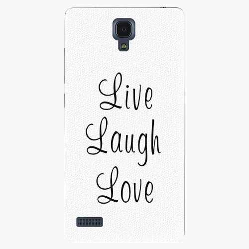 Plastový kryt iSaprio - Live Laugh Love - Xiaomi Redmi Note