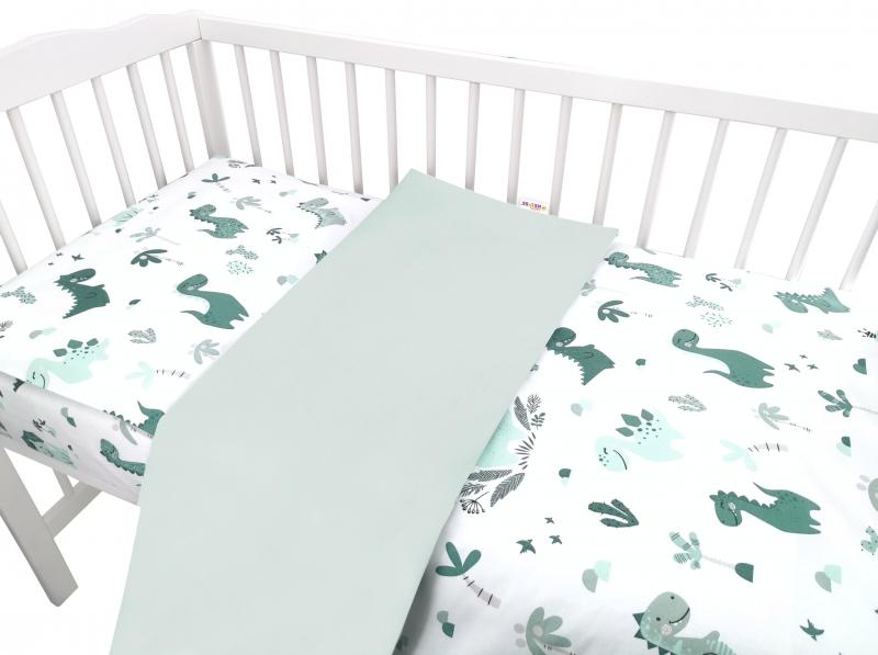 baby-nellys-2-dilne-bavlnene-povleceni-dino-zelena-135-x-100-135x100