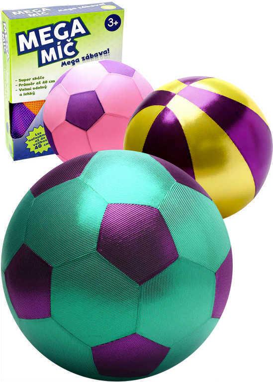 MAC TOYS Mega míč 40cm velký látkový nafukovací balon různé druhy