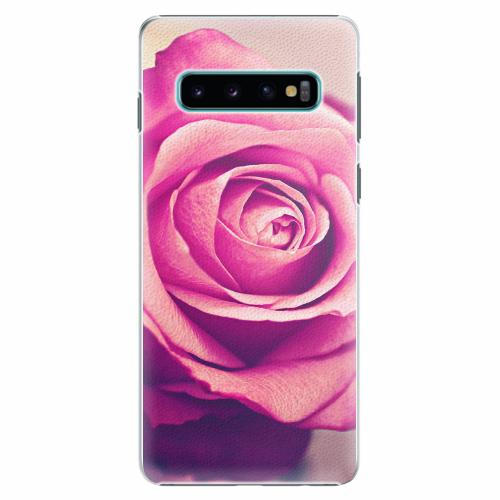 Plastový kryt iSaprio - Pink Rose - Samsung Galaxy S10