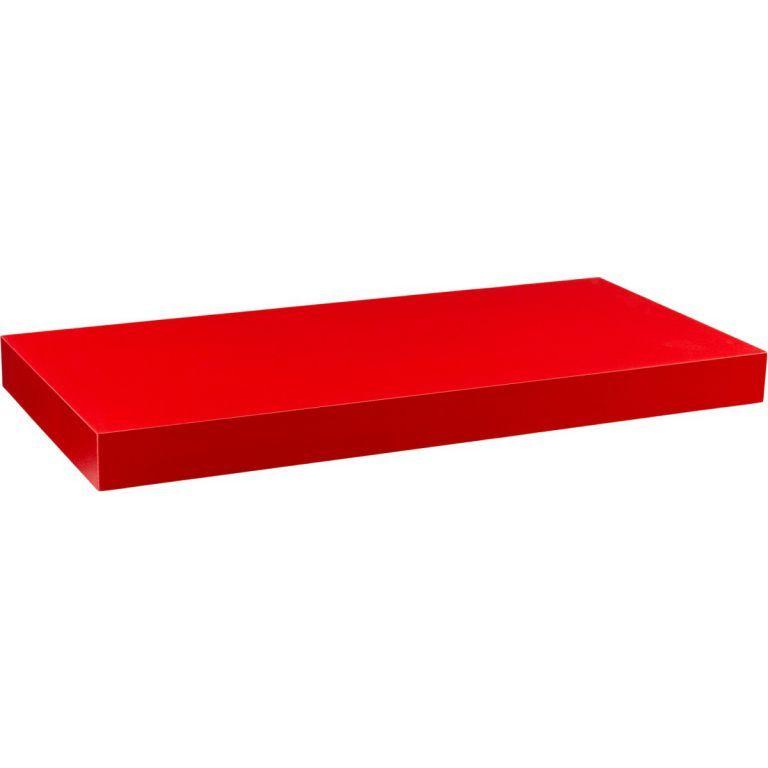 STILISTA Nástěnná police Volato, matná červená, 80 cm