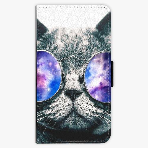 Flipové pouzdro iSaprio - Galaxy Cat - Samsung Galaxy J1 2016