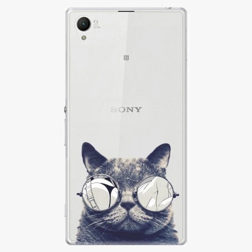 Plastový kryt iSaprio - Crazy Cat 01 - Sony Xperia Z1 Compact