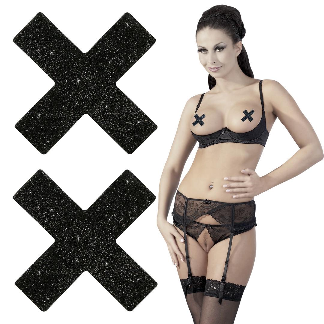 Třpytivé samolepky na bradavky Titty Sticker X