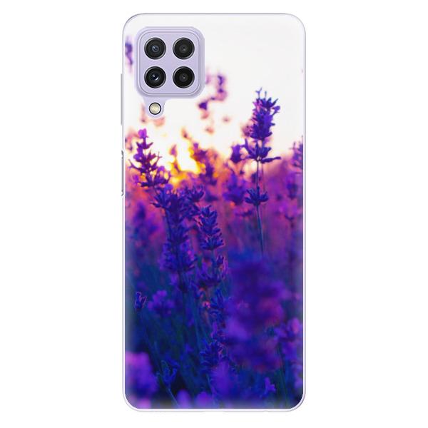 Odolné silikonové pouzdro iSaprio - Lavender Field - Samsung Galaxy A22