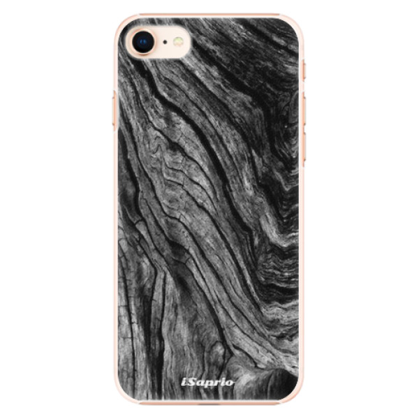 Plastové pouzdro iSaprio - Burned Wood - iPhone 8
