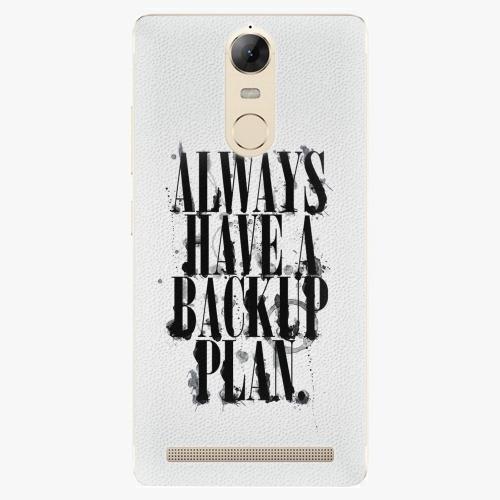 Plastový kryt iSaprio - Backup Plan - Lenovo K5 Note