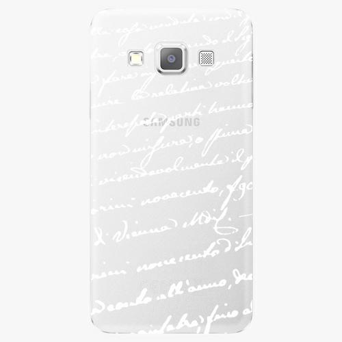 Plastový kryt iSaprio - Handwiting 01 - white - Samsung Galaxy A3
