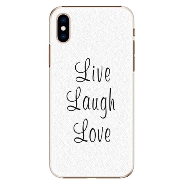 Plastové pouzdro iSaprio - Live Laugh Love - iPhone XS
