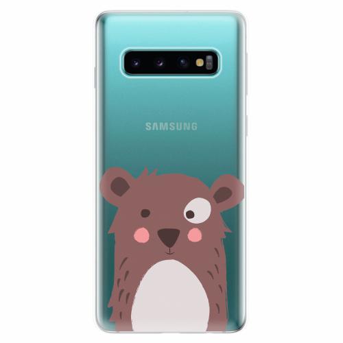 Silikonové pouzdro iSaprio - Brown Bear - Samsung Galaxy S10