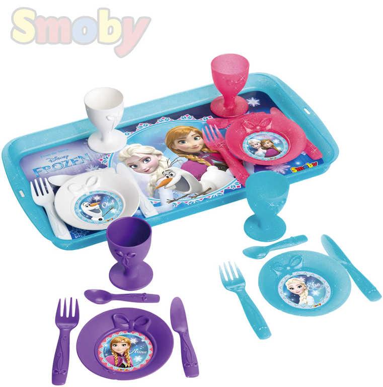 SMOBY Set dětský čajový Frozen (Ledové Království) 22ks s tácem plast