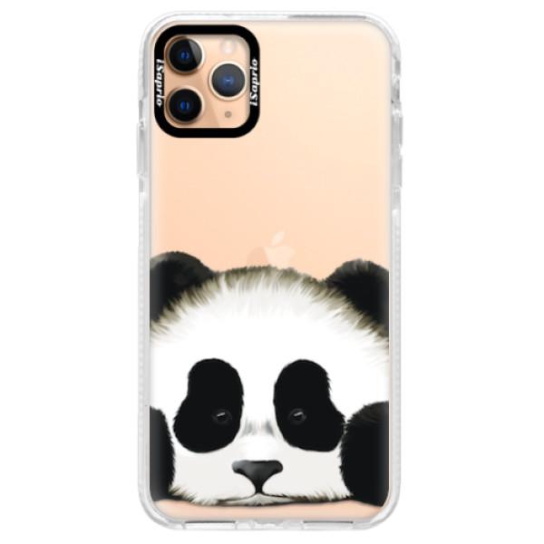 Silikonové pouzdro Bumper iSaprio - Sad Panda - iPhone 11 Pro Max