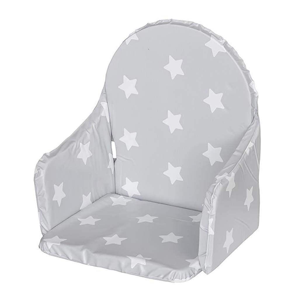 Vložka do dřevěných jídelních židliček typu New Baby Victory hvězdičky - šedá