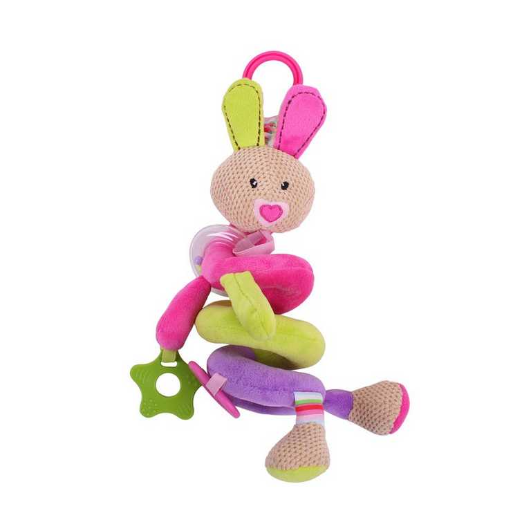 Bigjigs Baby Textilní postavička - Spirála králíček Bella