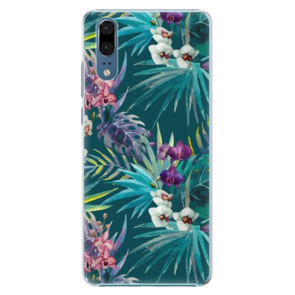 Plastové pouzdro iSaprio - Tropical Blue 01 - Huawei P20