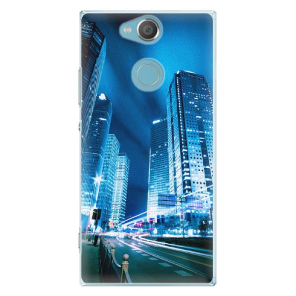 Plastové pouzdro iSaprio - Night City Blue - Sony Xperia XA2