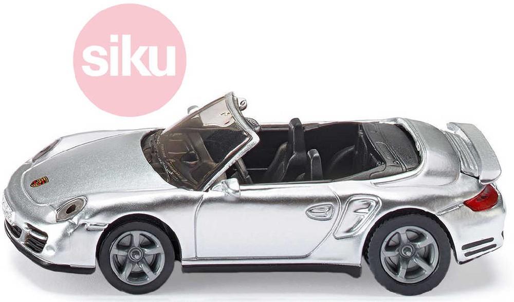 SIKU Model auto Kabriolet Porsche 911 turbo kovový model 1337