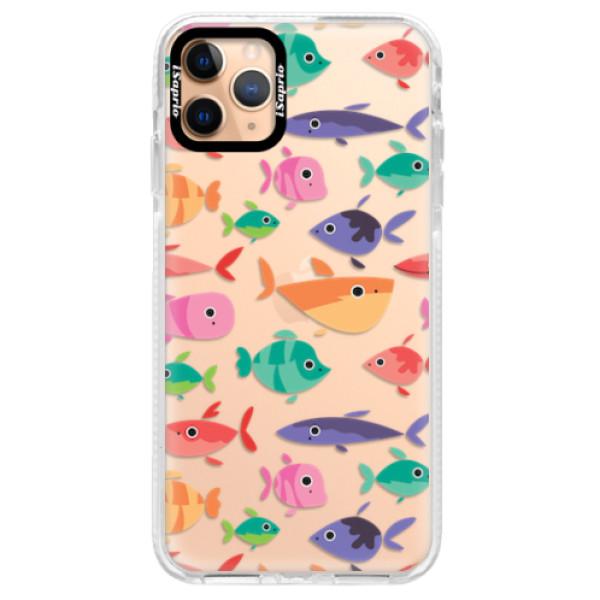 Silikonové pouzdro Bumper iSaprio - Fish pattern 01 - iPhone 11 Pro Max