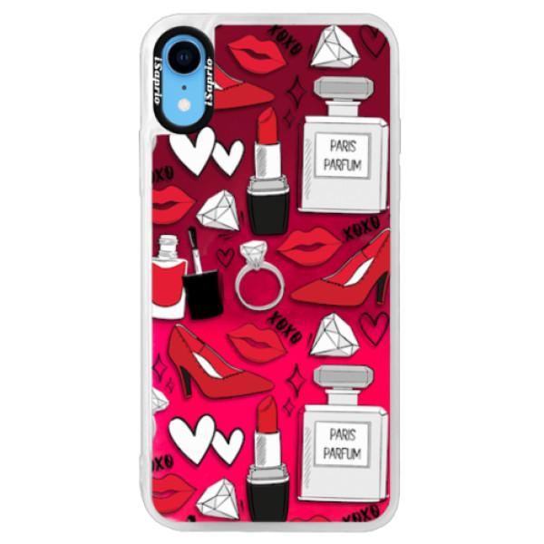 Neonové pouzdro Pink iSaprio - Fashion pattern 03 - iPhone XR