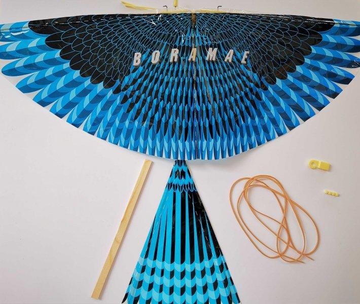 Sestav si letadýlko ve tvaru ptáčka - Modrý jestřáb